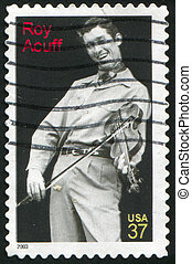 Roy Acuff - UNITED STATES - CIRCA 2003: stamp printed by...