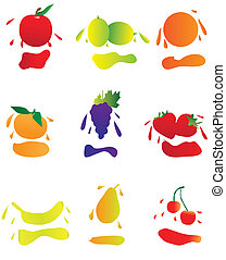 Icons of fruit