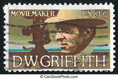 Griffith - UNITED STATES - CIRCA 1975: stamp printed by...