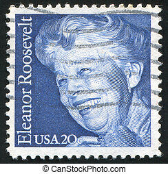 Eleanor Roosevelt - UNITED STATES - CIRCA 1984: stamp...