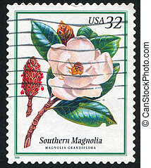 Southern Magnolia - UNITED STATES - CIRCA 1998: stamp...