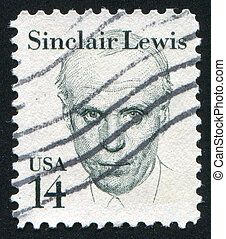 Sinclair Lewis - UNITED STATES - CIRCA 1980: stamp printed...