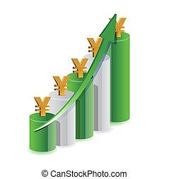 yen graph illustration design