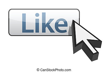 Like Button illustration design