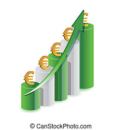 Euro graph illustration design