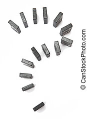 Domino on the white background