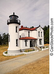 admiralty head lighthouse fort case - A historic lighthouse...