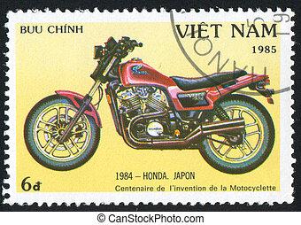 Honda - VIET NAM - CIRCA 1985: stamp printed by Viet Nam,...