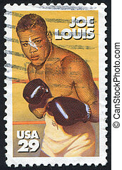 Joe Louis - UNITED STATES - CIRCA 1993: stamp printed by...