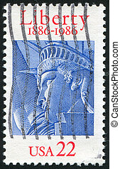 Statue of Liberty - UNITED STATES - CIRCA 1986: stamp...
