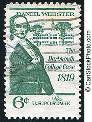 Daniel Webster - UNITED STATES - CIRCA 1969: stamp printed...