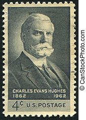 Charles Evans Hughes - UNITED STATES - CIRCA 1962: stamp...