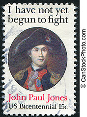 John Paul Jones - UNITED STATES - CIRCA 1979: stamp printed...