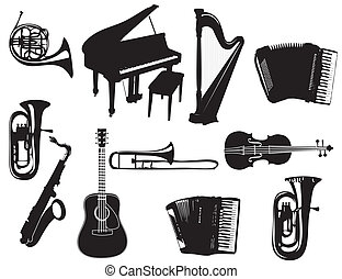 Music instuments - Music instruments on the white background