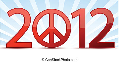 2012 peace year illustration design
