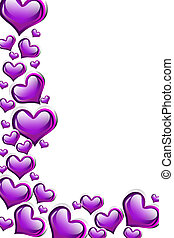 Purple Heart Background - A purple heart background isolated...
