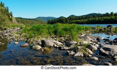 Teletskoe lake 4, Altai, Russia - Teletskoe lake, Altai,...