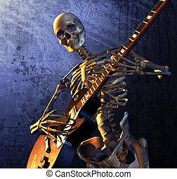 Heavy Metal Skeleton - Skeleton playing guitar - combines 3d...