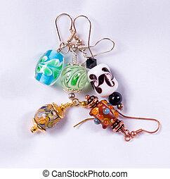 Hand made earrings - Bead designed earrings made as a hobby...