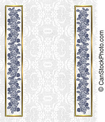 Lace background hydrangea border - Image and illustration...