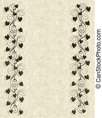 Parchment and ivy template