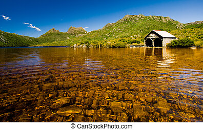 Cradle Mountain Boat Shed - Dove Lake at Cradle Mountain,...