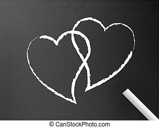 Chalkboard - Hearts