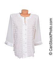 Blouse on a white.