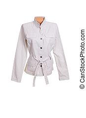Chic stylish jacket on a white.