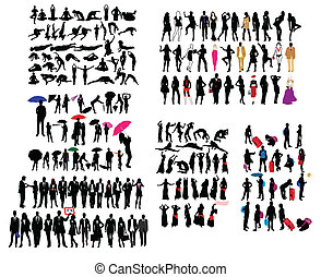 Different kind of silhouettes