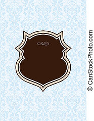 Vector Ornate Background and Brown Frame