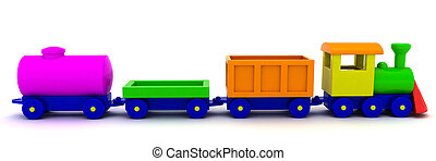 Choo-choo - Toy train isolated on the white background