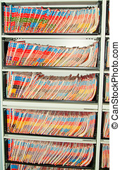 Medical Records folders. - Medical Records folder archive...
