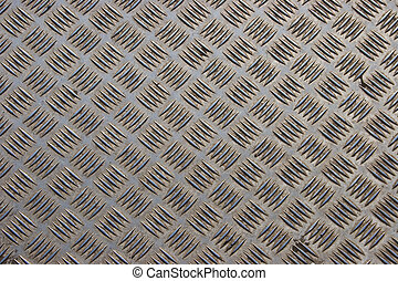 Steel diamond plate background - Dirty and scratched steel...