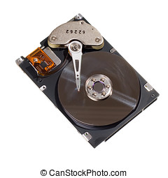 Hard disk drive isolated on the white background