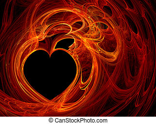 Heart background - Fractal computer generated heart...