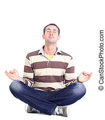 relaxed man sitting
