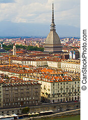 A view of Turin - a view of Turin with a famous Mole...