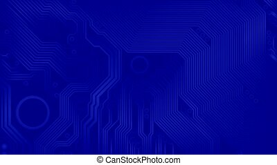 motherboard - printed circuit - Abstract loop movie -...
