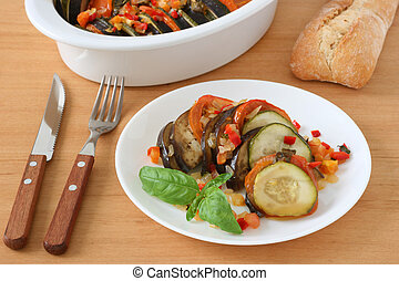 ratatouille with basil
