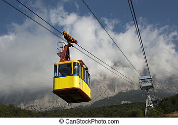 Cable car in the mountains - The cable car in Crimea...