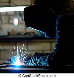Welder - Close-up photo of a welder at work