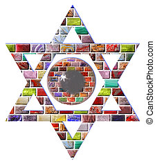 Star of David with a pupil