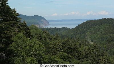 Scenic lookout - View from Fundy National Park at Dickson...