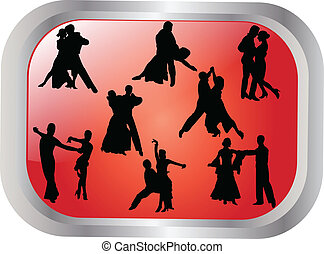 dancing background - Collection of dancing people...