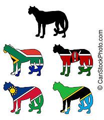 Cheetah Flags