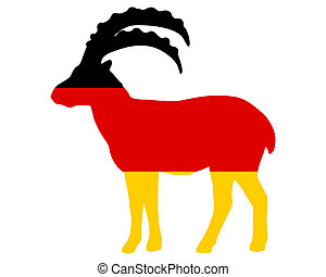 Flag of Germany with capricorn