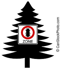 Bark-beetle traffic sign