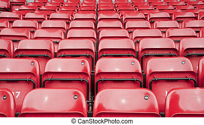 Repetitive pattern of football stadium seating - Rows upon...