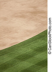 Baseball Turf Background - Vertical photo of infield dirt...